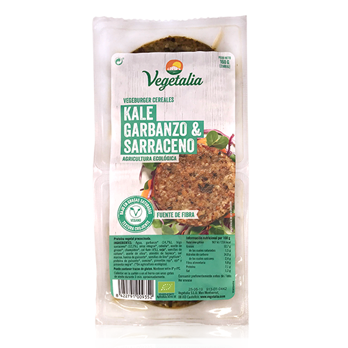 Vegeburguer Garbanzo y Kale Bio (160 g) Vegetalia