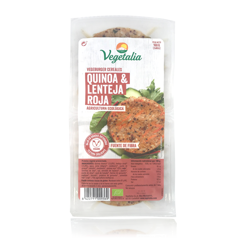 Vegeburguer Lentejas y Quinoa Bio (160 g) Vegetalia