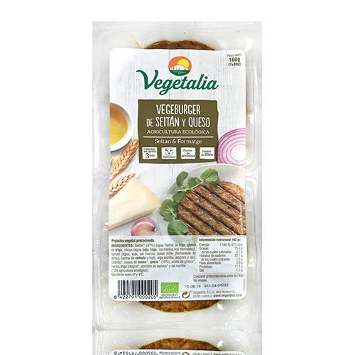 Vegeburguer Seità i Formatge Bio (160 g) Vegetalia