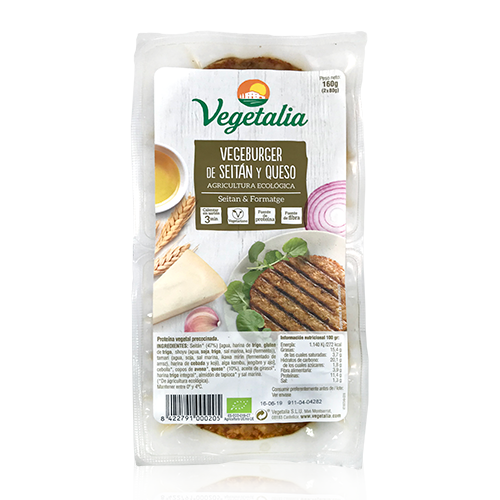 Vegeburguer Seitán y Queso (160 g) Vegetalia