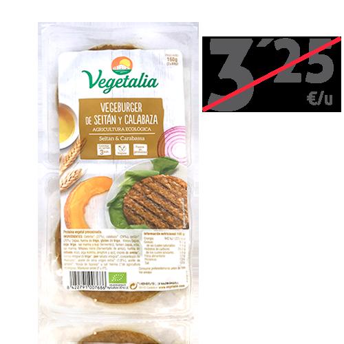 Vegeburguer Seità i Carbassa Bio (160 g) Vegetalia