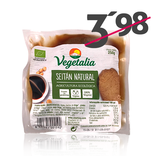 Seitán Natural (250 g) Vegetalia