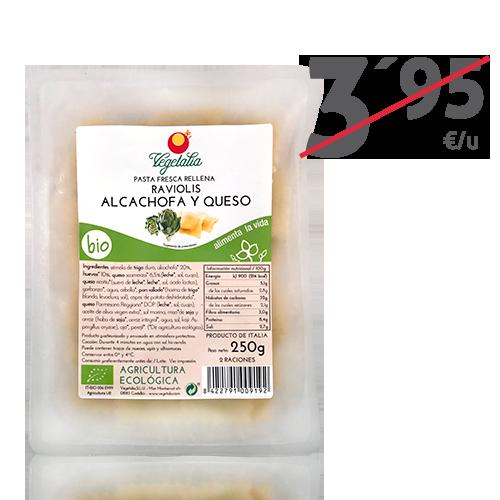 Raviolis Alcachofa y Queso (250g) Vegetalia