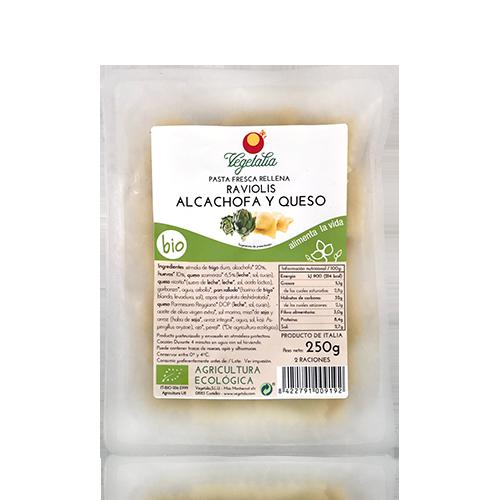 Raviolis Alcachofa y Queso (250 g) Vegetalia