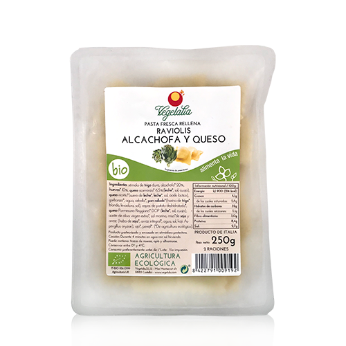 Raviolis Carxofa i Formatge (250 g) Vegetalia