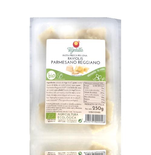 Raviolis amb Parmesà Reggiano Bio (250 g) Vegetalia