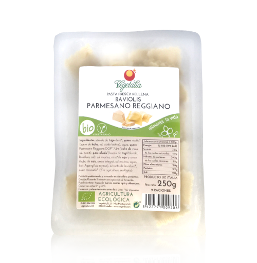 Raviolis con Parmesano Reggiano Bio (250 g) Vegetalia