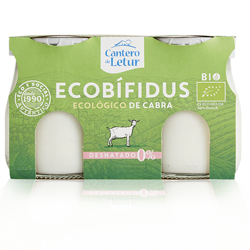 Iogurt Ecobifidus Cabra Desnatat Bio (2x125 g) Cantero de Letur