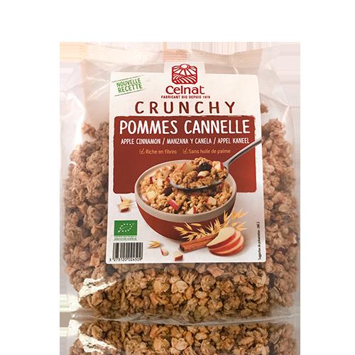 Crunxy Manzana y Canela Bio (500 g) Celnat