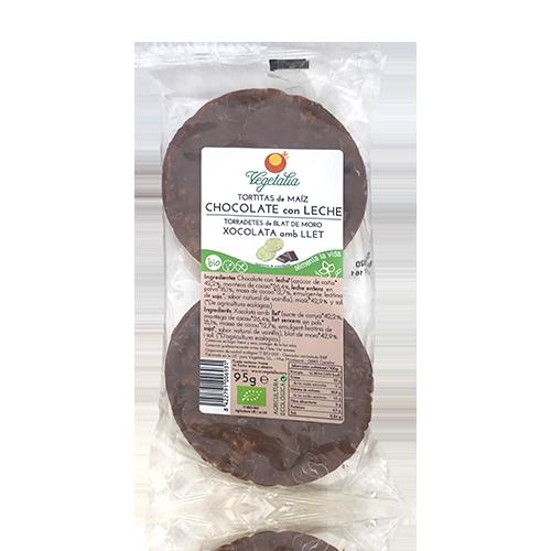 Coques de Blat de Moro amb Xocolata amb Llet (95 g) Vegetalia