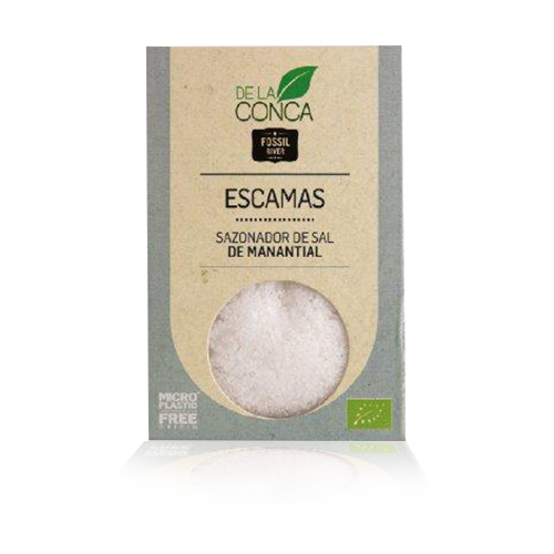 Escatas de Sal Blanca Bio (125 g) Herbes de la Conca