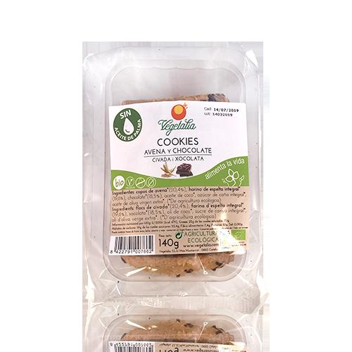 Cookies de Avena y Chocolate Negro Bio (140g) Vegetalia