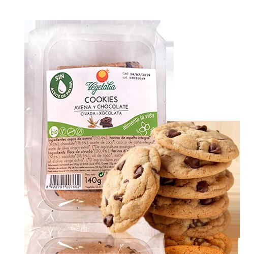 Cookies de Civada i Xocolata Negra Bio (140g) Vegetalia