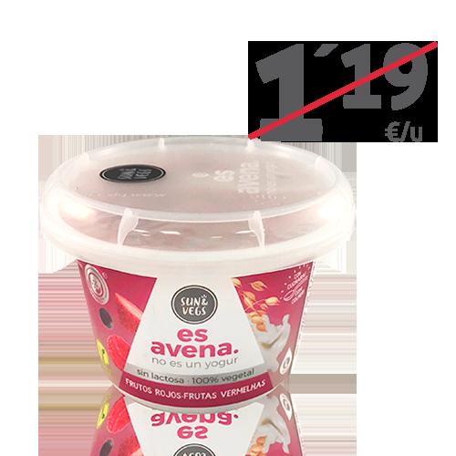 Crema de Avena Frutos Rojos (180g) Es Avena