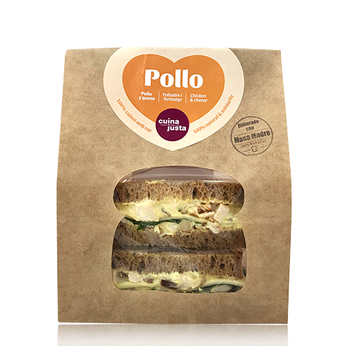 Sandwich Pollastre (195 g) Cuina Justa