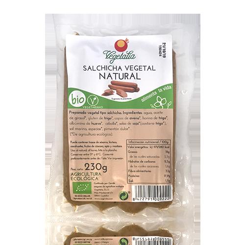 Salchicha Vegetal Natural Bio (230 g) Vegetalia