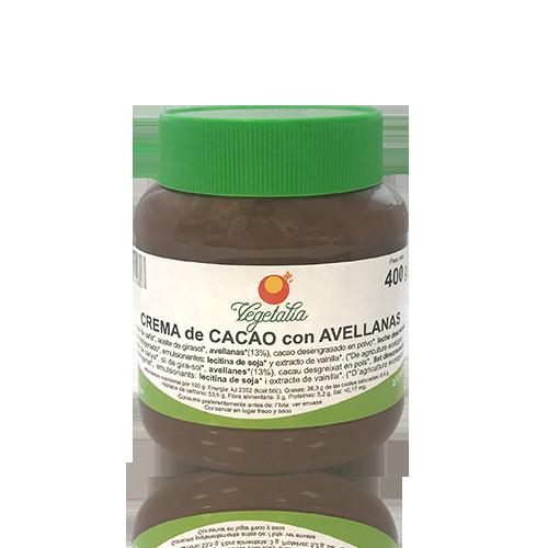 Crema de Cacau amb Avellanes Bio (400 g) Vegetalia