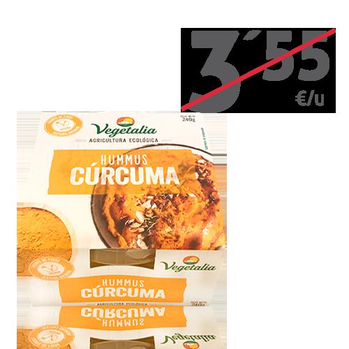 Hummus Fresc de Cúrcuma Bio (240 g) Vegetalia