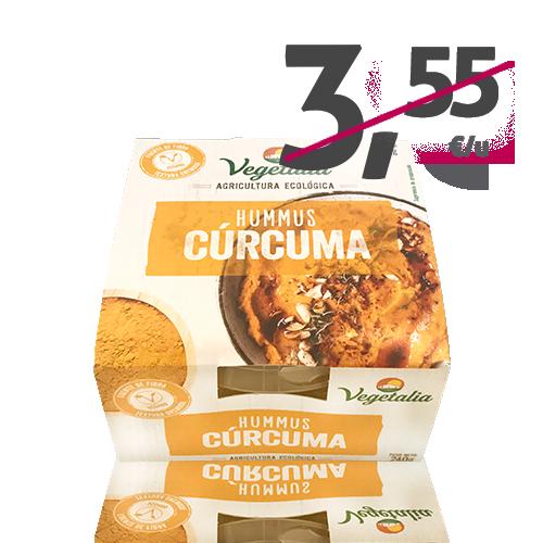 Hummus Fresco de Cúrcuma Bio (240 g) Vegetalia