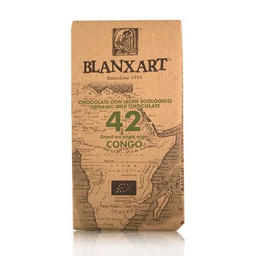Xocolata amb Llet 42% Congo (125 g) Blanxart