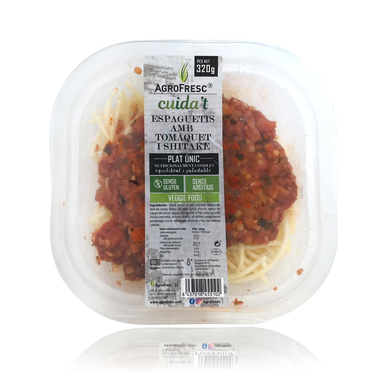 Espaguetis con Tomate y Shitake (320 g) Agrofresc