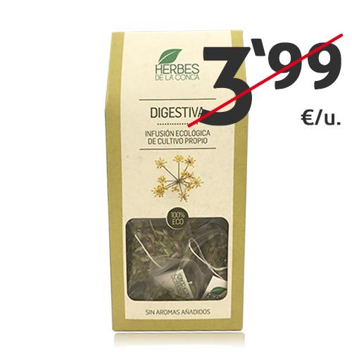 Infusió Digestiva Bio (12 u) Herbes de la Conca
