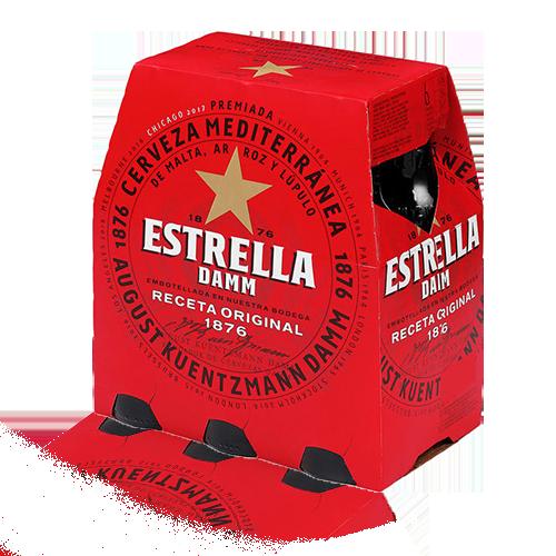 Cervesa Estrella Damm Ampolla Vidre 25 cl (pack 6)