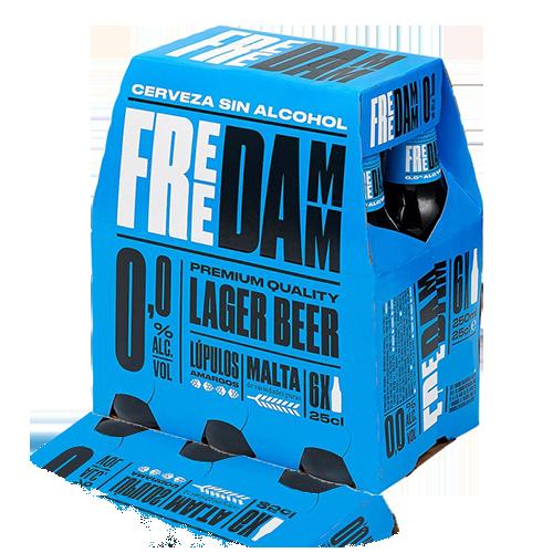 Cervesa Free Damm Ampolla Vidre 25cl Pack 6u.
