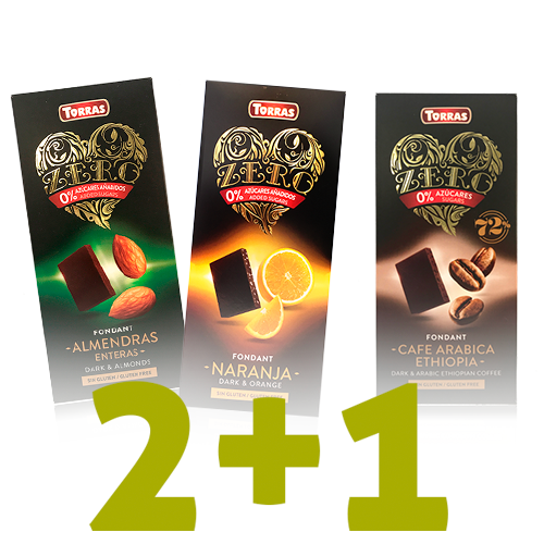 2+1 de Regalo Chocolates Zero Torras