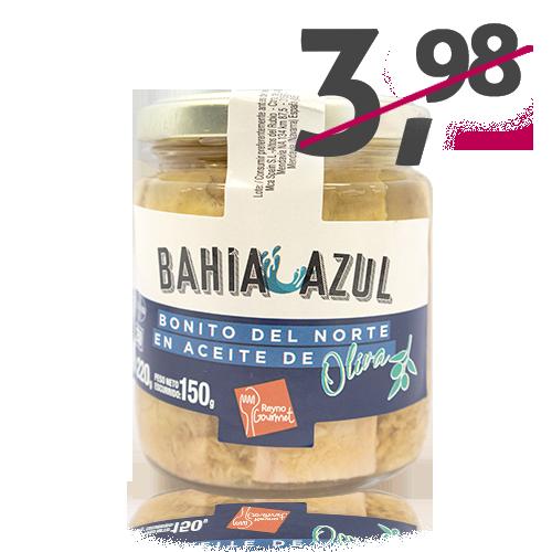 Bonito del Norte Lomo con Aceite de Oliva (220 g) Bahía Azul