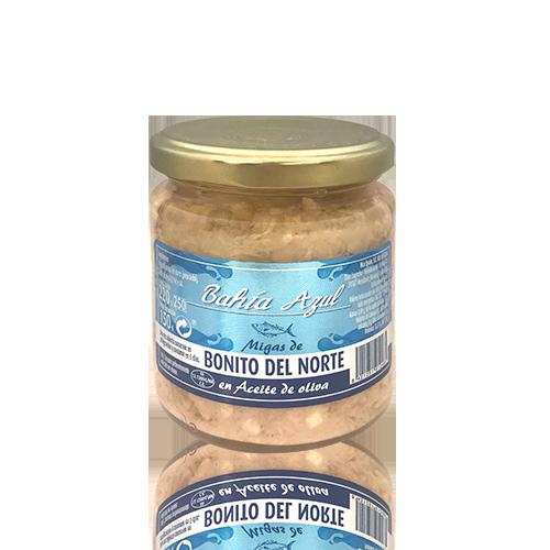 Boníto del Norte Migas con Aceite de Oliva (250 ml) Bahía Azul