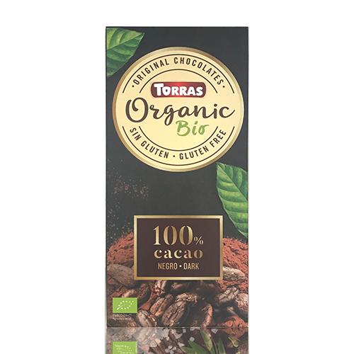 Xocolata Orgànic Negre 100% Cacau 100g Torras