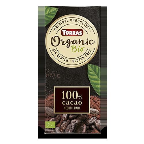 Chocolate Organic Negro 100% Cacao 100g Torras