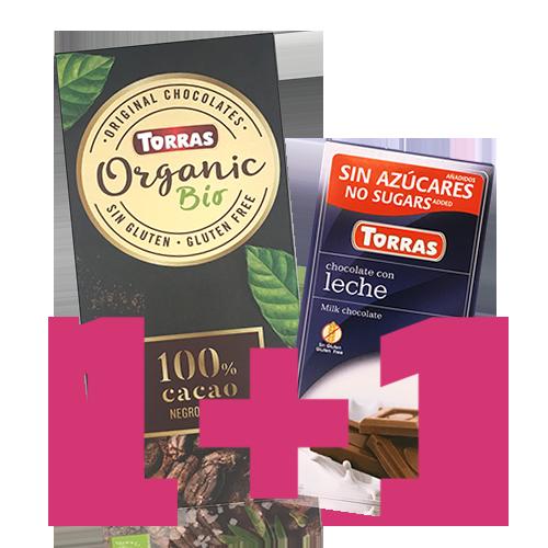 1+1 Xocolata Orgànic Negre 100% Torras