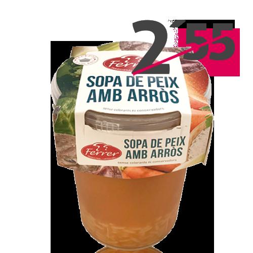 Sopa de Peix amb Arròs (495 g) Ferrer