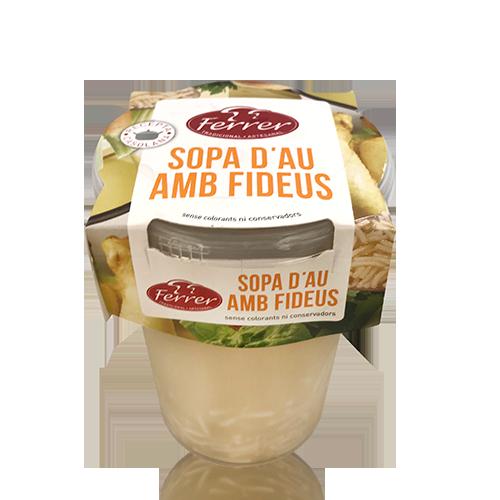 Sopa Brou de Pollastre amb Fideus (495 g) Ferrer