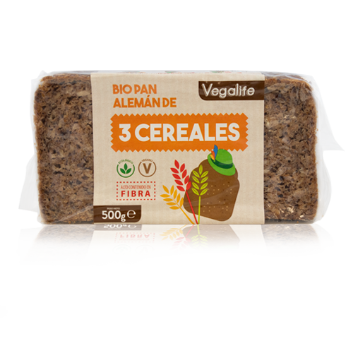 Pa Alemany 3 cereals (500 g) Vegalife