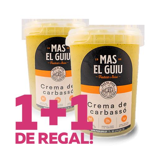 1+1 Crema de Carbassó (0.5 l) Mas el Guiu