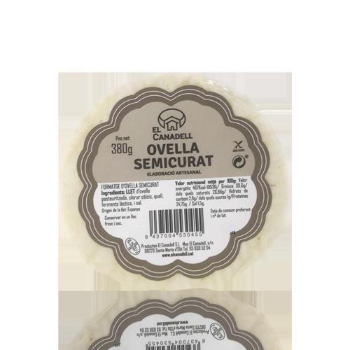 Formatge d'Ovella Semicurat (380 g) El Canadell