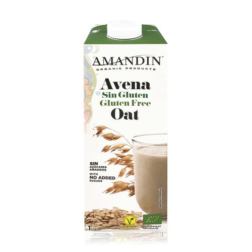Bebida de Avena Sin Gluten Bio (1 L) Amandin