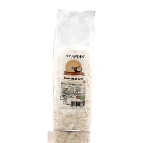 Escatas de Coco Bio (200 g) Amandin