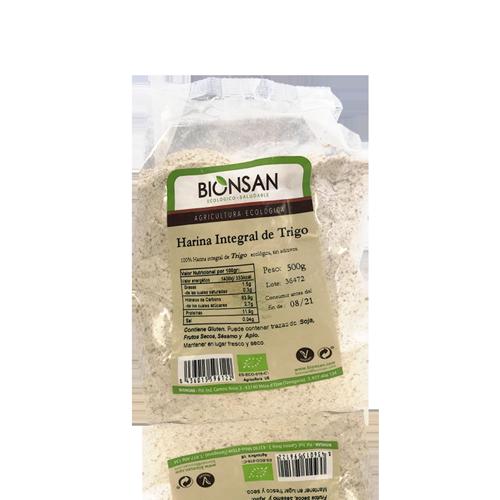 Harina de Trigo Integral Bio (500 g) Bionsan