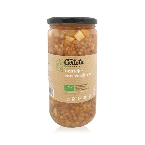 Lentejas con Verduras Bio (720 g) Carlota