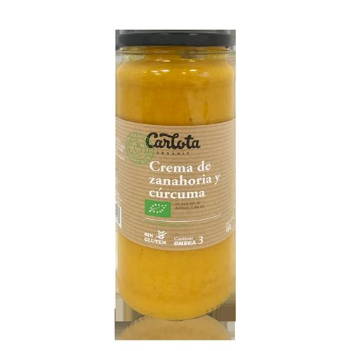 Crema de Pastanaga i Cúrcuma Bio (450 g) Carlota