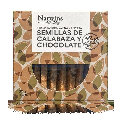 Barrita de Avena con Semillas de Calabaza y Chocolate (80 g) Natwins