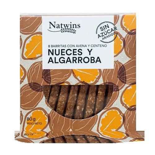 Barrita de Avena con Nueces y Algarroba (80 g) Natwins