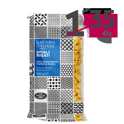 Ditali Rigati La Ruvida Italiana (500 g) Reggia