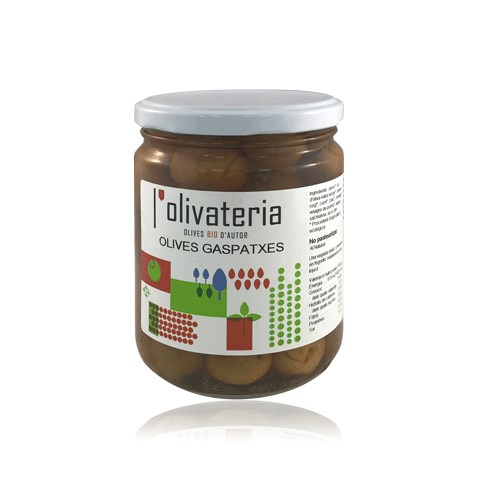 Olives Gaspatxa Bio (435 g) L'Olivateria