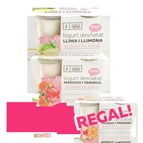 2+1 Iogurt Desnatat Cal Fruitós (Llima i Llimona, Maduixa i Taronja, Mango i Préssec)