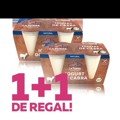 1+1 Yogur de cabra (2x125 g) La Torre